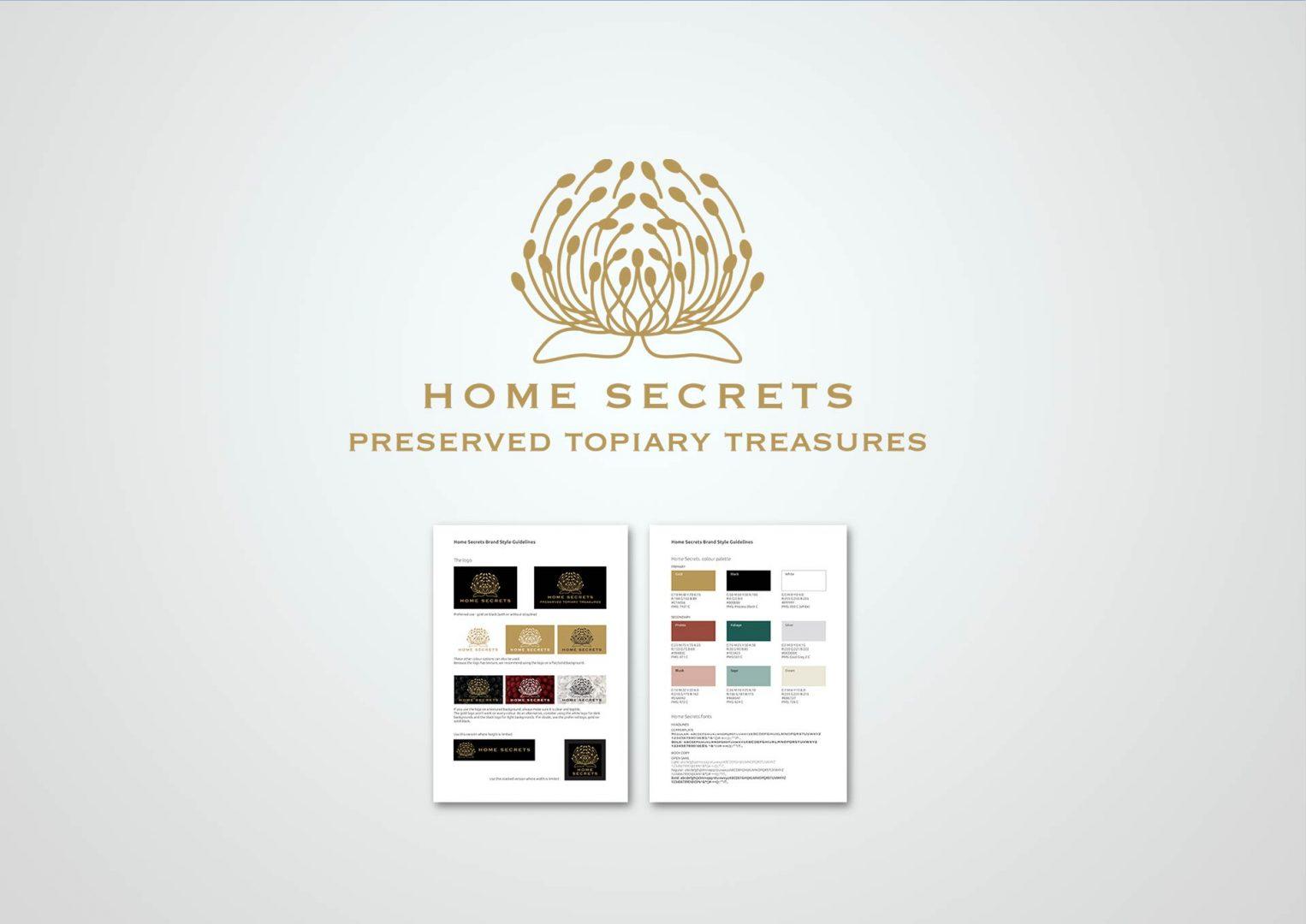 Home Secrets, Logo design, Graphic Designer, Photoshop, Branding, Romford, Essex, Jan Lewis Creative