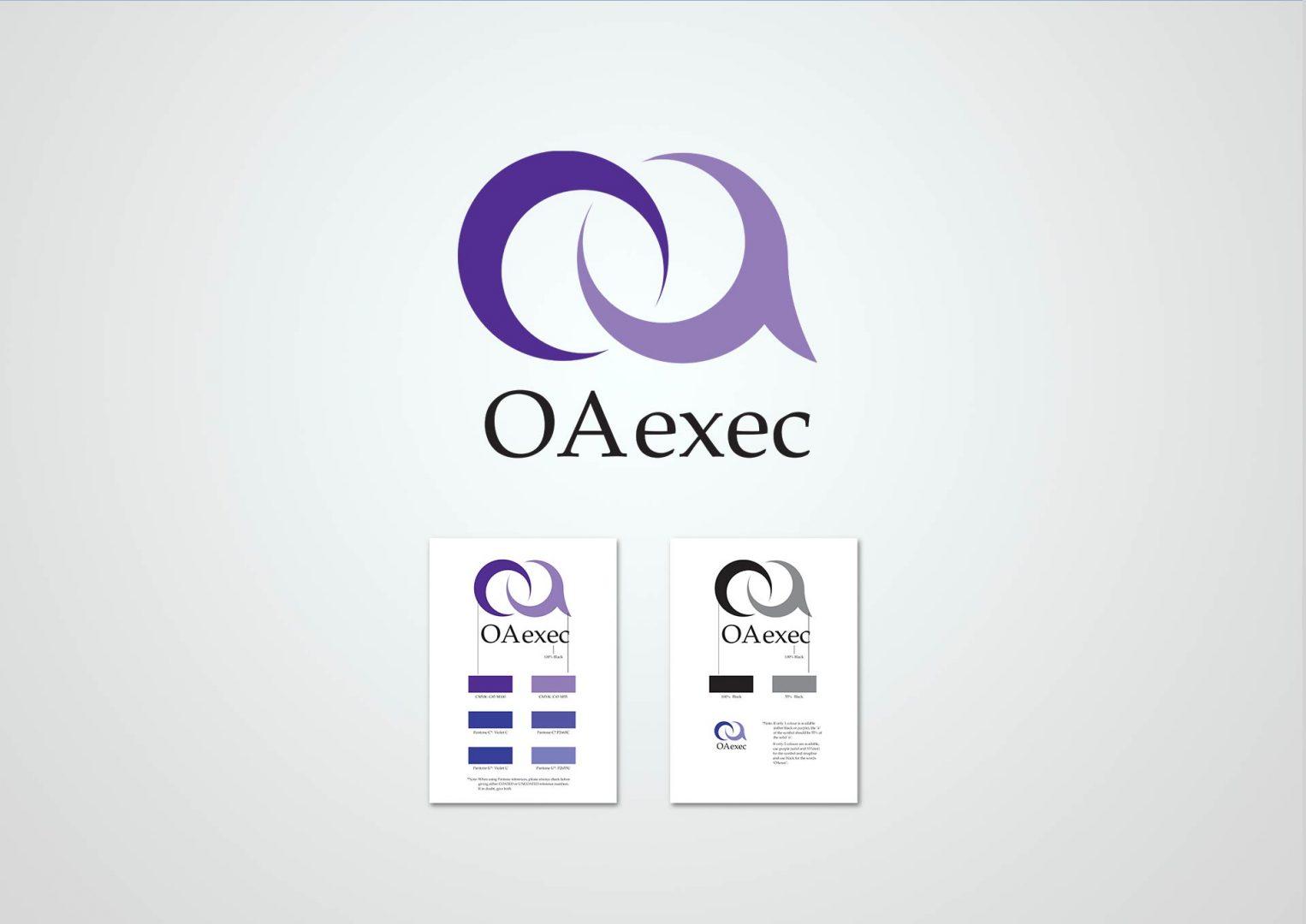 OA Exec, Logo design, Graphic Designer, Photoshop, Branding, Romford, Essex, Jan Lewis Creative