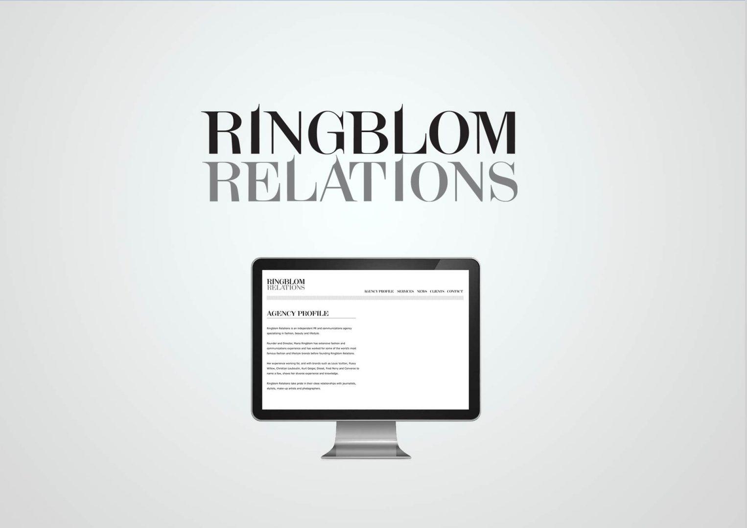 Ringblom Relations, Logo design, Graphic Designer, Photoshop, Branding, Romford, Essex, Jan Lewis Creative
